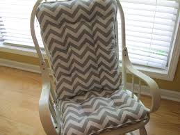 Gray And White Dots And Stripes Rocking Chair Pad Inverter Chair