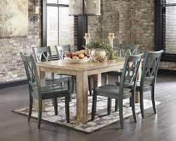 7 Piece Classic Rustic Dining Room Set