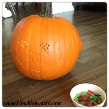 Drilled Pumpkin Designs by Lite Brite Pumpkin Carving How Wee Learn