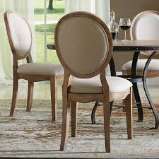Riverside Sherborne Oval Back Upholstered Side Dining Chair White