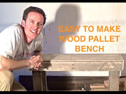 how to make a bench from reclaimed pallet wood pallet projects
