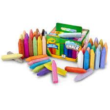 Crayola Bathtub Crayons 18 Vibrant Colors by Crayola 48 Count Washable Sidewalk Chalk Walmart Com
