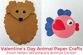 Hedgehog And Fish Valentines Day Papercraft