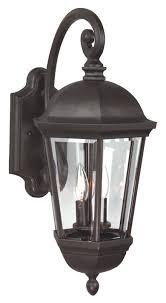 charlton home oakhill 3 light aluminum outdoor wall lantern