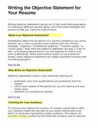 Career Objective For Resume Fresh Examples Luxury How Write A