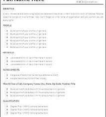 Resume For Job Example Simple Examples Sample Of Layout Download Skills Yahoo Answers