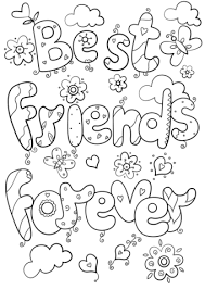 Click To See Printable Version Of Best Friends Forever Coloring Page