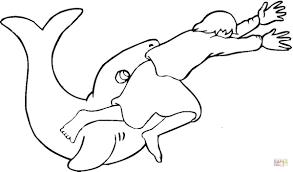 Dibujo De La Historia De Jonás Y La Ballena Para Colorear Dibujos