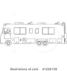 Royalty Free RF Motorhome Clipart Illustration 1206728 By Djart