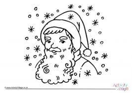Father Christmas Colouring Page 3
