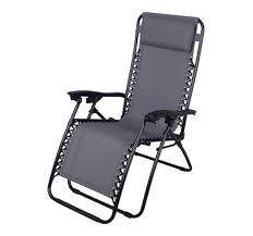 Caravan Sports Infinity Zero Gravity Chair Black by Outsunny Folding Beach Chaise Lounge Pool Reclining Chair