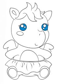 Cute Baby Pegasus Coloring Page