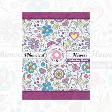 Floral Designs And Patterns Adult Coloring Books Collection 3 SetWhimsical Flowers