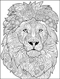 1 Lion Head 293x385 Adult Coloring PagesColoring