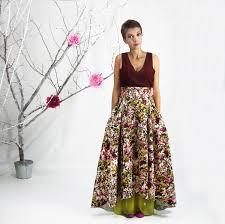 floral skirt long dress ala