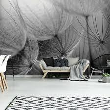 details zu vlies fototapete gris pusteblume blumen wohnzimmer schwarz und weiß tapete
