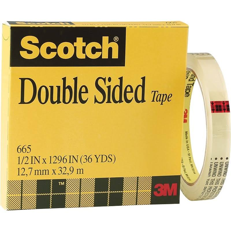 "Scotch Double Sided Tape - 1/2"" x 36yd"