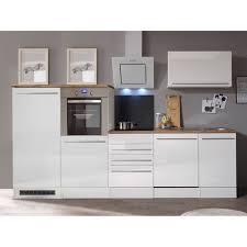 respekta premium küchenzeile berp290hwwc 290 cm weiß hochglanz