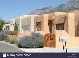 Albuquerque New Mexico Sandia Heights adobe style homes high