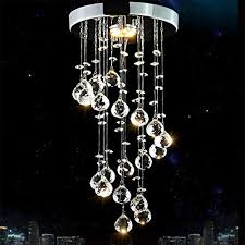 mini modern kristall deckenleuchten spirale le led