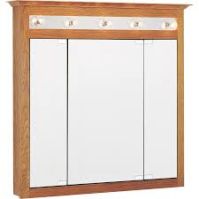 oak medicine cabinet with lights 47 with additional