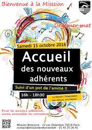 accueil des nouveaux adhérents soirée cabaret mission bretonne