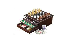 Wooden Family Game Board Set 15 Classic Games In 1