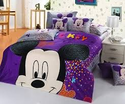 intelligent kids room 14 purple mickey and minnie mouse bedding