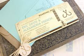 Nautical Wedding Invitation This Vintage Boarding Pass
