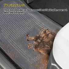 100 Heavy Duty Truck Floor Mats Rubber Clear Car Plastic Rug Vaygway All Weather