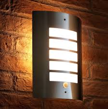 motion sensor outdoor wall light shop lighting at secure home