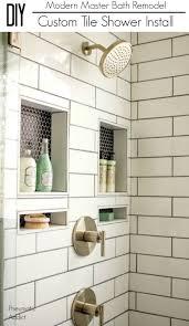 Custom Shower Remodeling And Renovation Diy Modern Master Bath Remodel Part 3 Custom Tile Shower