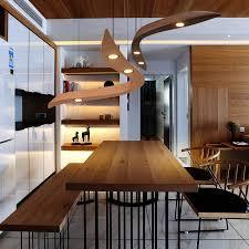 suspension leuchte led anhänger licht moderne einfache kunst restaurant massivholz gebogen wohnzimmer hangl abajur leuchte