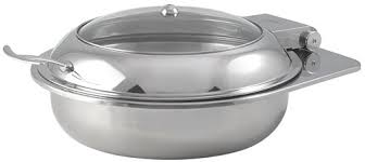 Spring USA 2172 6 37 Quart Round Chafer Induction Ready Reflection Series