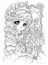 Princess Bouquet Coloring Pages Adult Nurie Kawaii