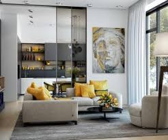 Living Room Ideasmodern Decorating Ideas Gorgeous Yellow Accent Interior With Neutral Color