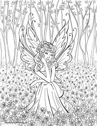 Hard Colouring Pages New Fairy