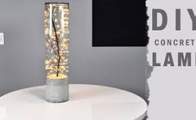 Diy Indoor Outdoor Concrete Lamp Masonry Lighting Glen