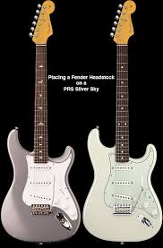 PRS Silver Sky With A Strat Headstock
