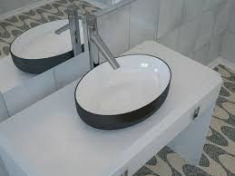 Aquatica Metamorfosi Black Wht Round Ceramic Bathroom Vessel Sink In ... From A Floating Vanity To Vessel Sink Your Ideas Guide Stylish And Diverse Bathroom Sinks Oil Dectable Small Mounting Cabinet Led Gorgeous For Elegant Vanities Sets Design White Mini Lowes 12 Inch Wide 13 Valve 16 Guest With Amazing Tiles In Walk Shower And Cabinets Large Unit Wooden Designs Homebase Grey Corner Modern Exotic Pictures Of Bowl Glass Inspiring Diy Netbul Beautiful 47 High End Bathroom Vessel Sinks Made By