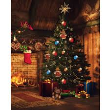 Christmas Tree Sale 10ft by Christmas Hearth Printed Backdrop Backdrop Express