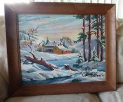 Vintage Paint By Number Landscape