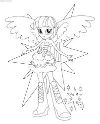 My Little Pony Equestria Girls Coloring Pages Rainbow Rocks