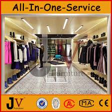 Wooden And Stainless Steel Clothing Store Display Standsclothing Shops Standclothes