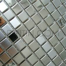 brushed polished mixed stainless steel mosaic tiles 15x15mm