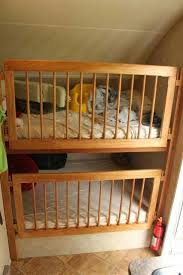 swing open baby gate to make bunk bed crib