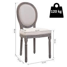 homcom 2er set esszimmerstuhl retro design küchenstuhl polsterstuhl mit fußmatten leinen b51 x t51 x h96 cm