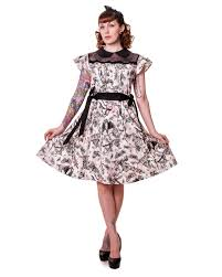 petticoat dress with butterfly print rockabilly dress gothic