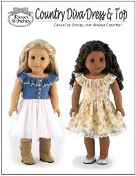 country diva dress u0026 top doll clothes pattern 18 inch american