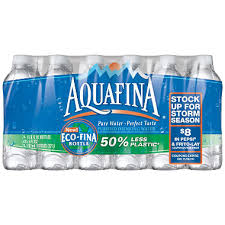 Aquafina Purified Drinking Water 20 Oz 24 Pk